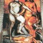 Cortes y Malinche de Jose Clemente Orozco