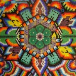 Huichol Art - Peyote Flower